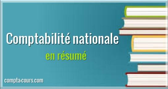 comptabilité nationale résumé
