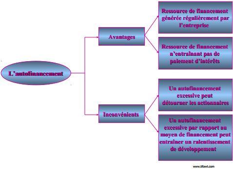 avantages et anconvénients de l'autofinancement