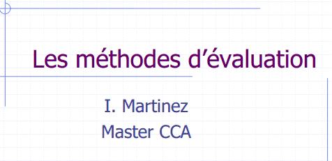 methodes evaluation entreprise